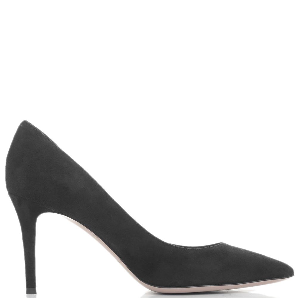 Черные туфли-лодочки Fabio Rusconi на шпильке