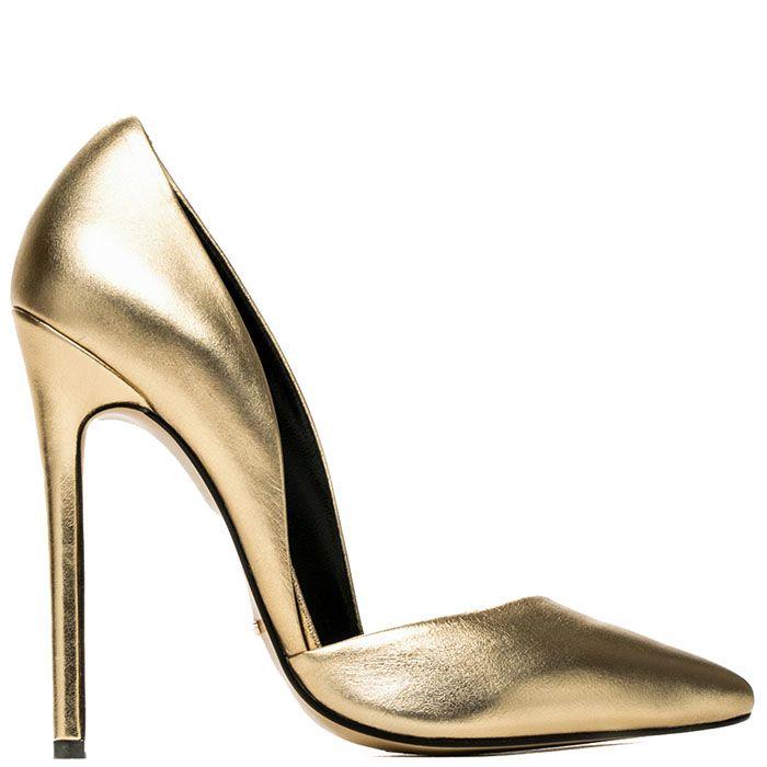 Туфли Modus Vivendi золотого цвета на высокой шпильке