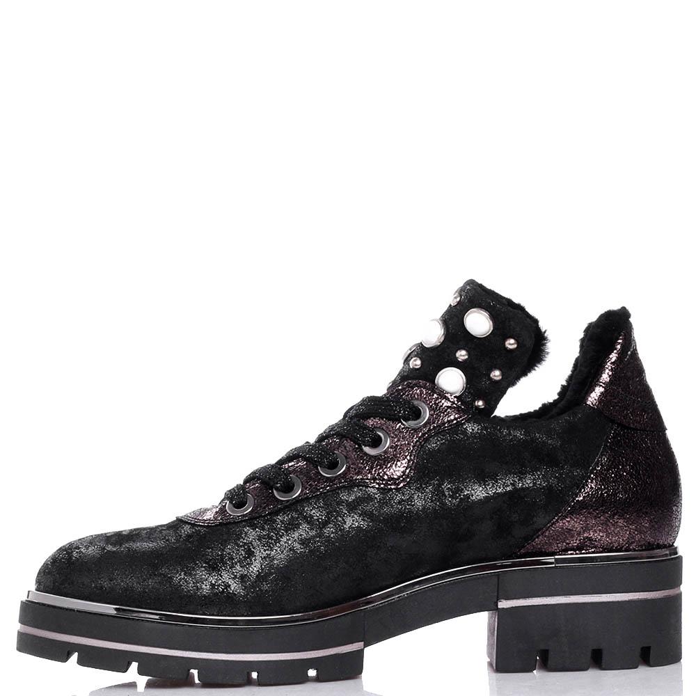 Черные туфли Tine's с декором-бусинами
