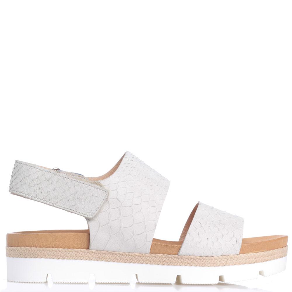 Серые сандалии Tine's с плетением вдоль подошвы