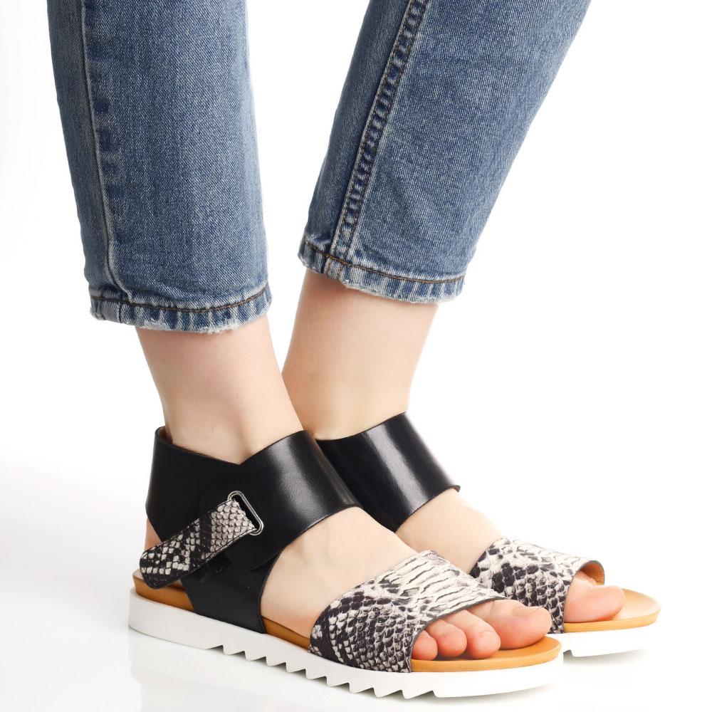 Черные сандалии Tine's на липучке