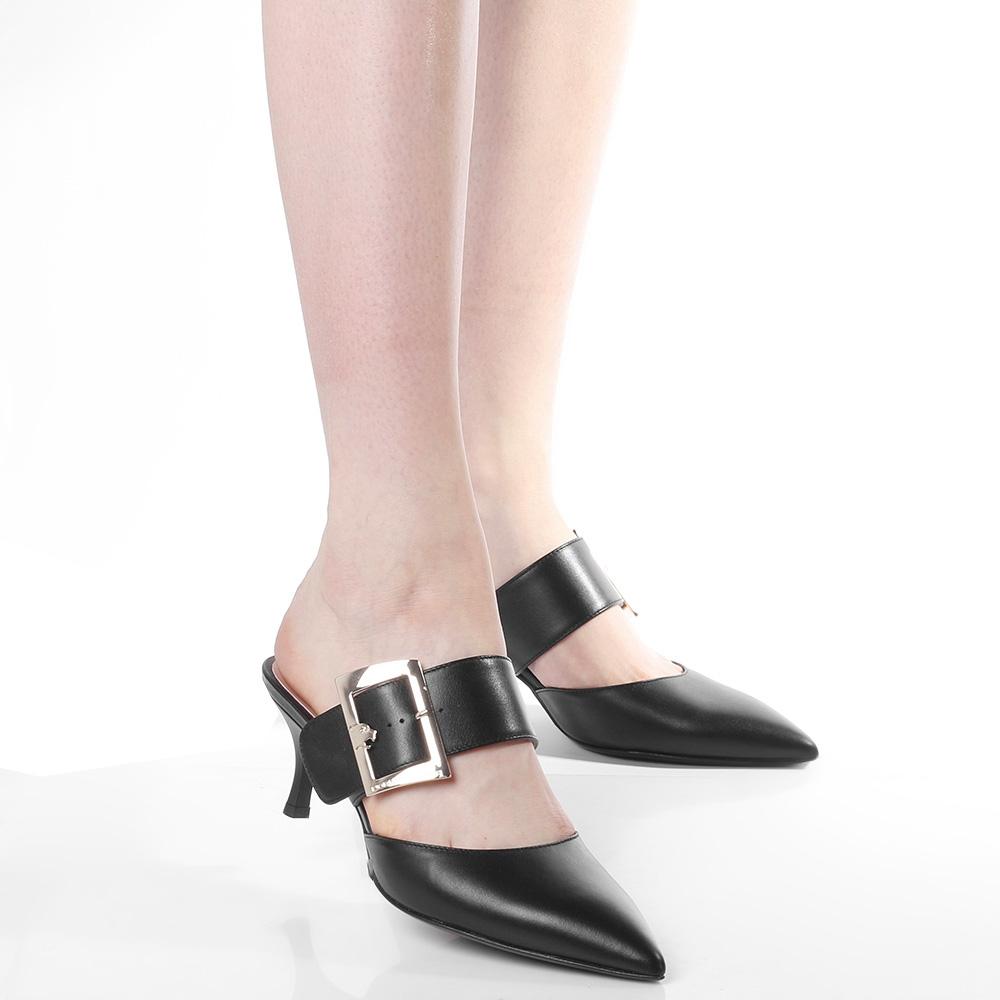 Черные мюли Norma J.Baker с острым носком