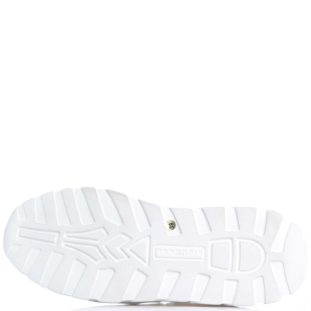Белые кроссовки John Richmond на толстой подошве