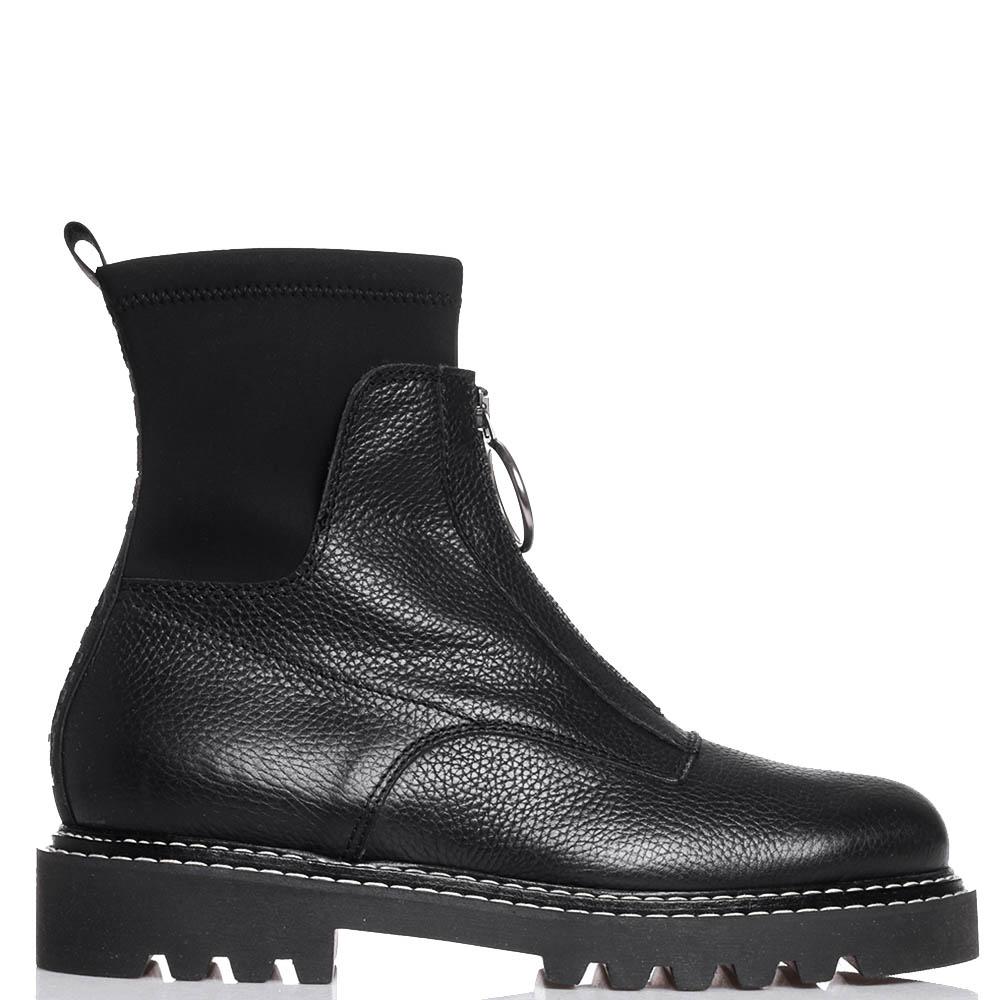Черные ботинки Jeannot со стежкой вдоль подошвы