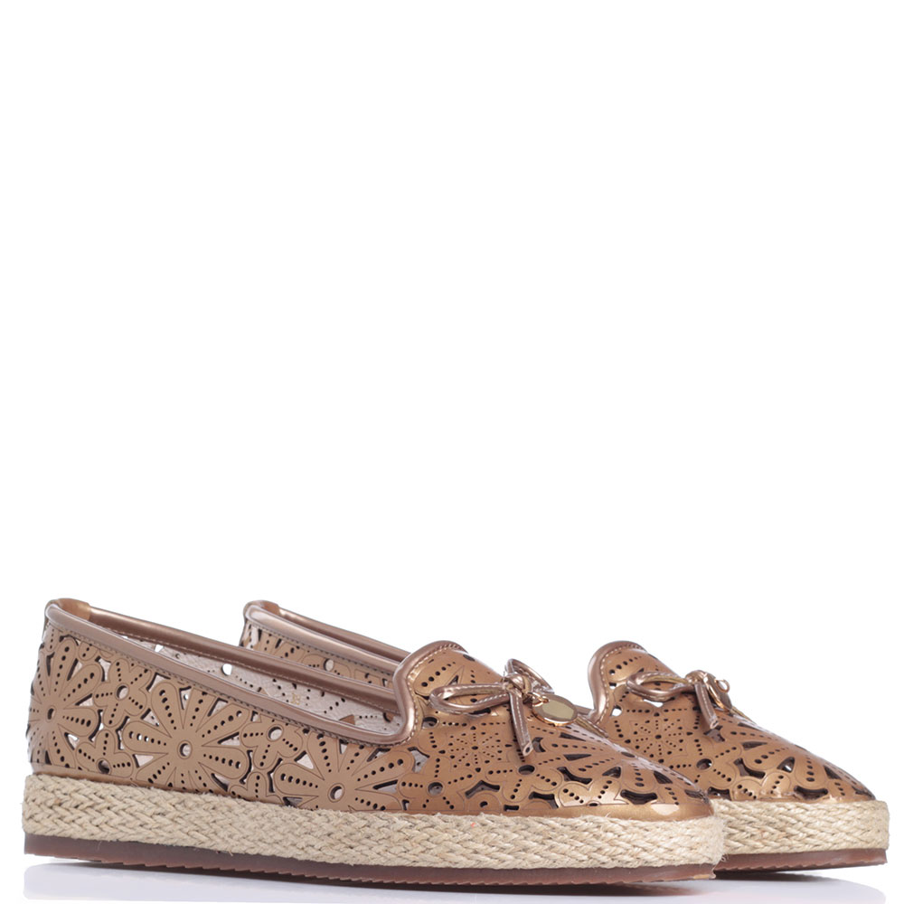 Коричневые туфли Francesco Valeri с резным узором