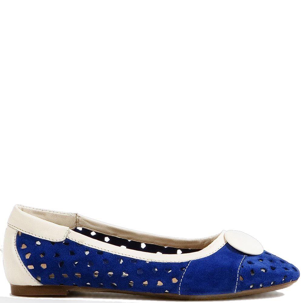 Туфли Modus Vivendi из замши синего цвета и белой кожи