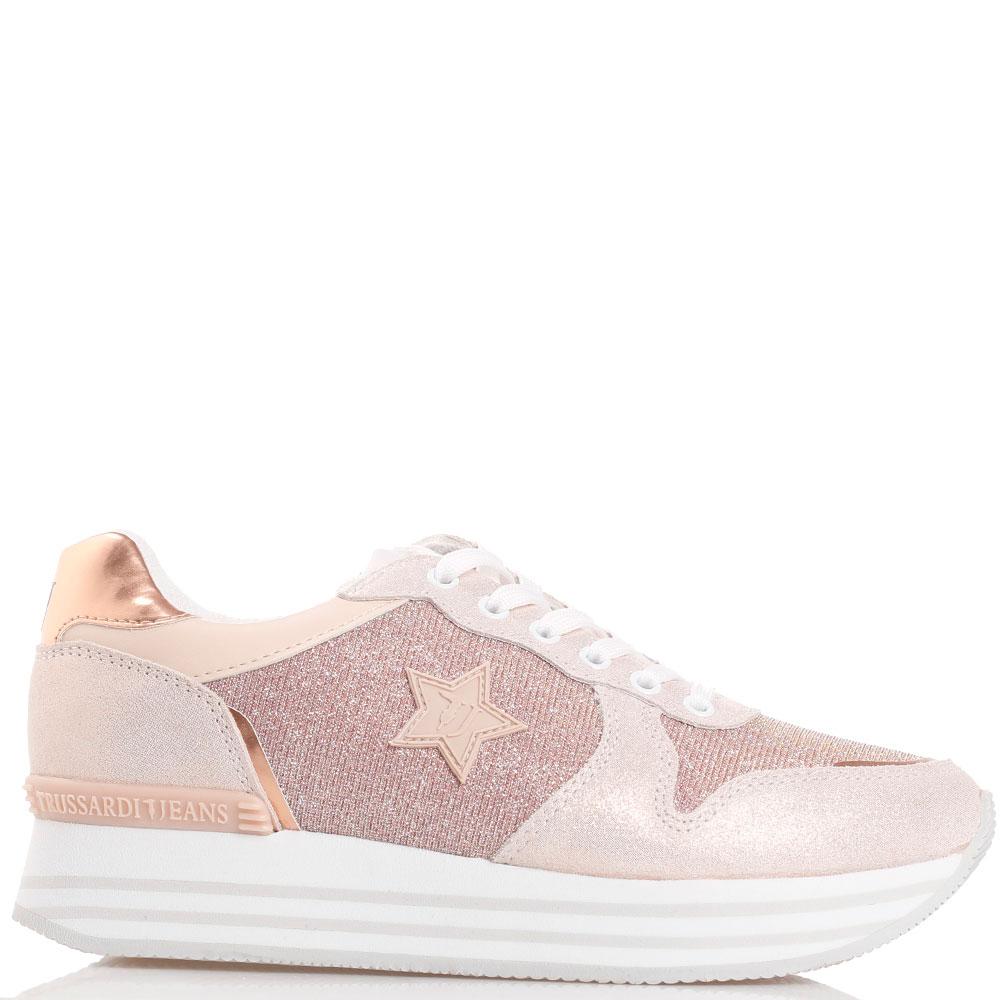 Текстильные кроссовки с нашивкой-звездой