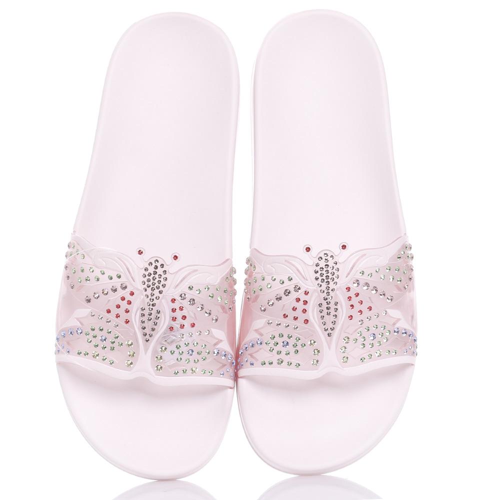 Розовые сланцы Menghi с бабочкой