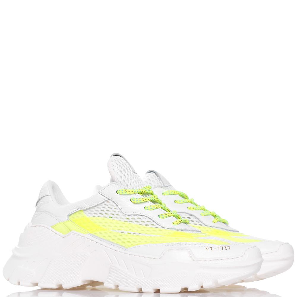Белые кроссовки Stokton с яркими вставками