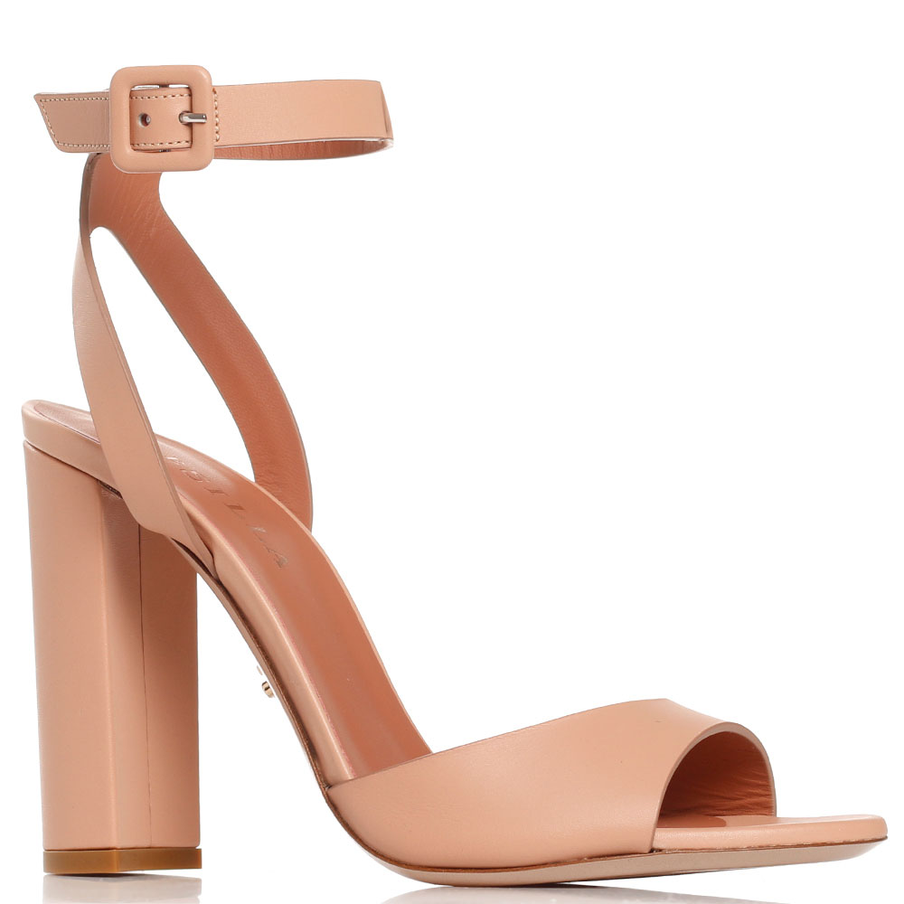 Бежевые босоножки Le Silla на устойчивом каблуке