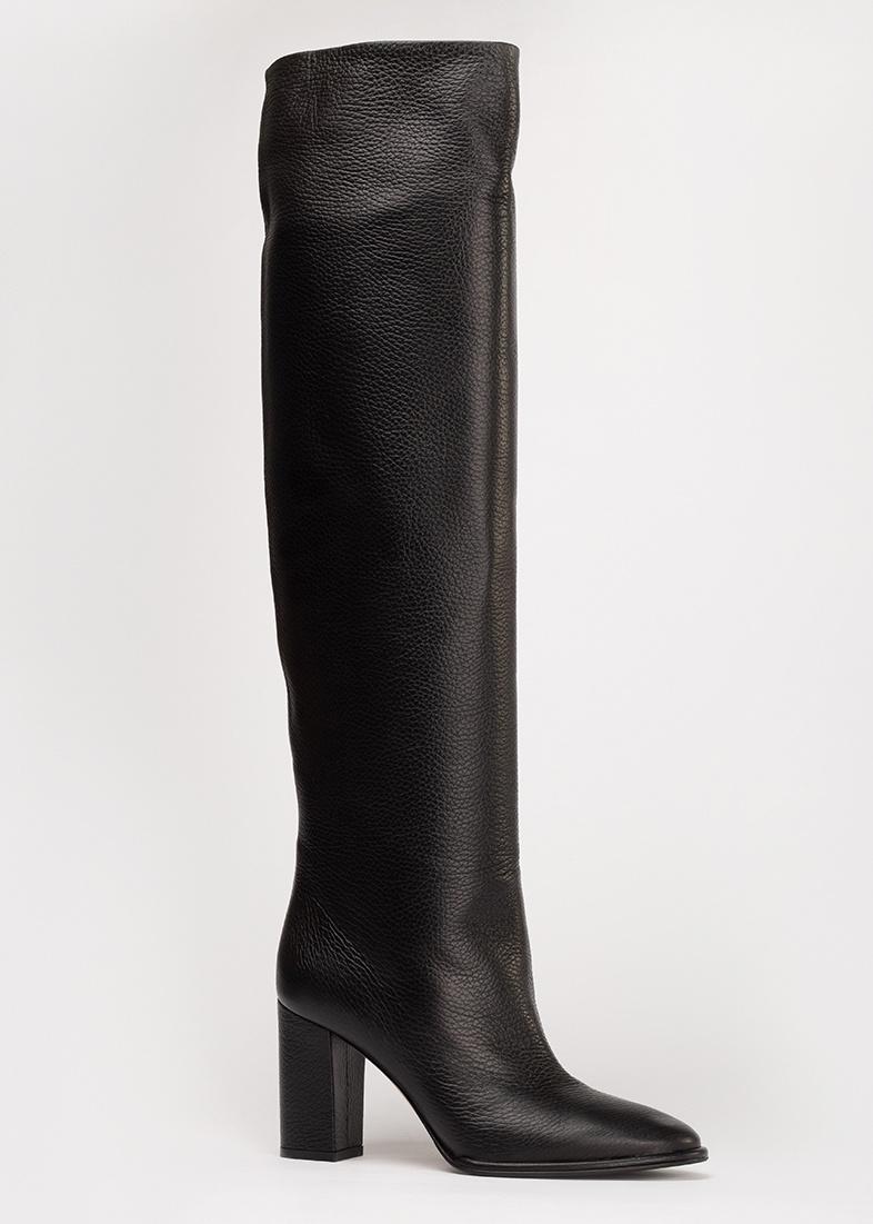 Черные сапоги Le Silla на среднем каблуке