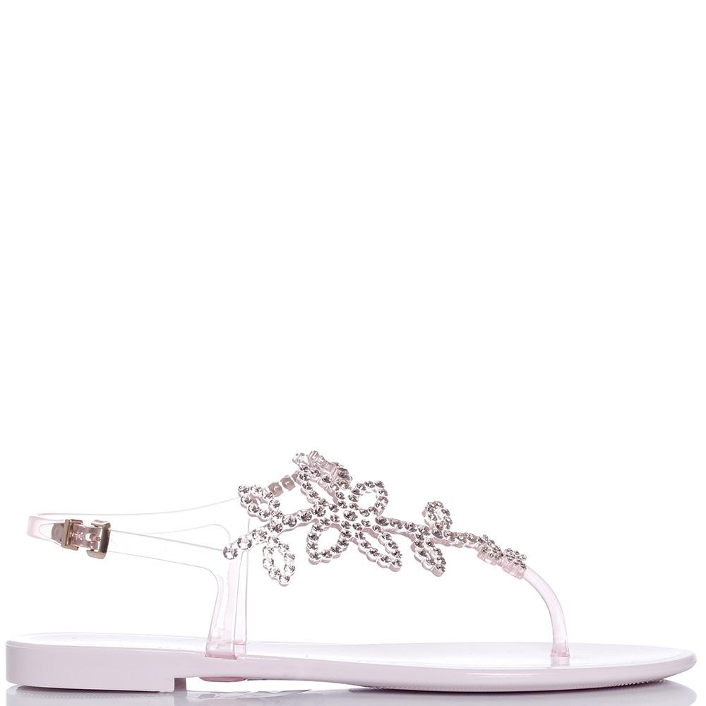 Розовые сандалии Menghi с кристаллами Сваровски