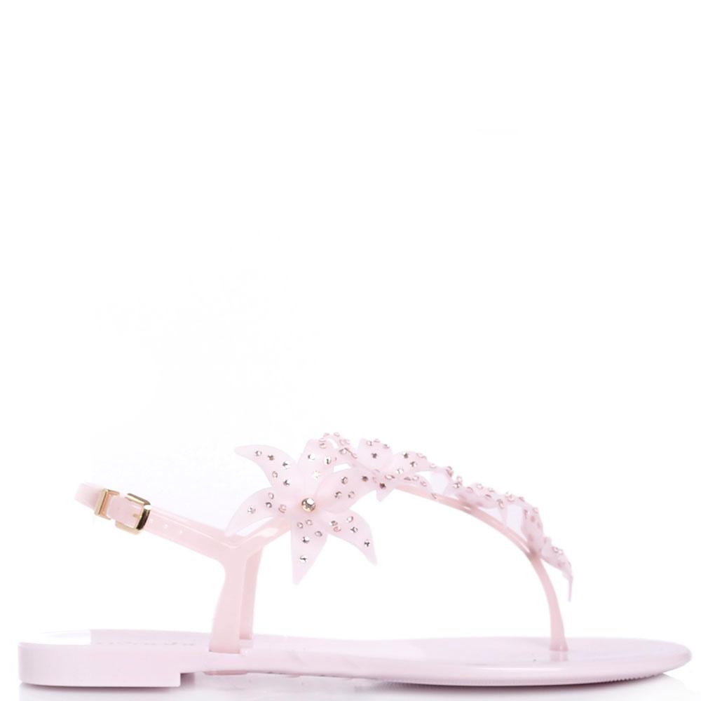 Розовые сандалии Menghi с декором в виде цветов