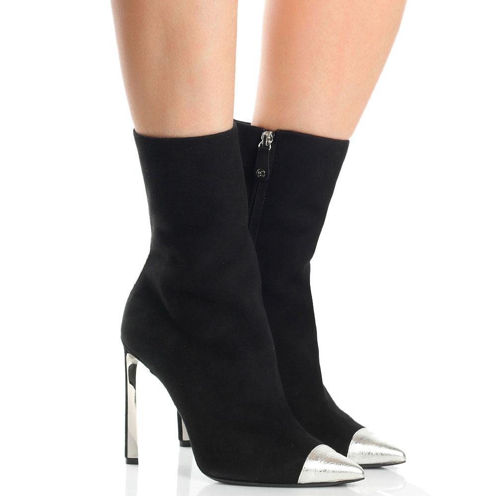 Замшевые сапоги Ballin с серебристым носком