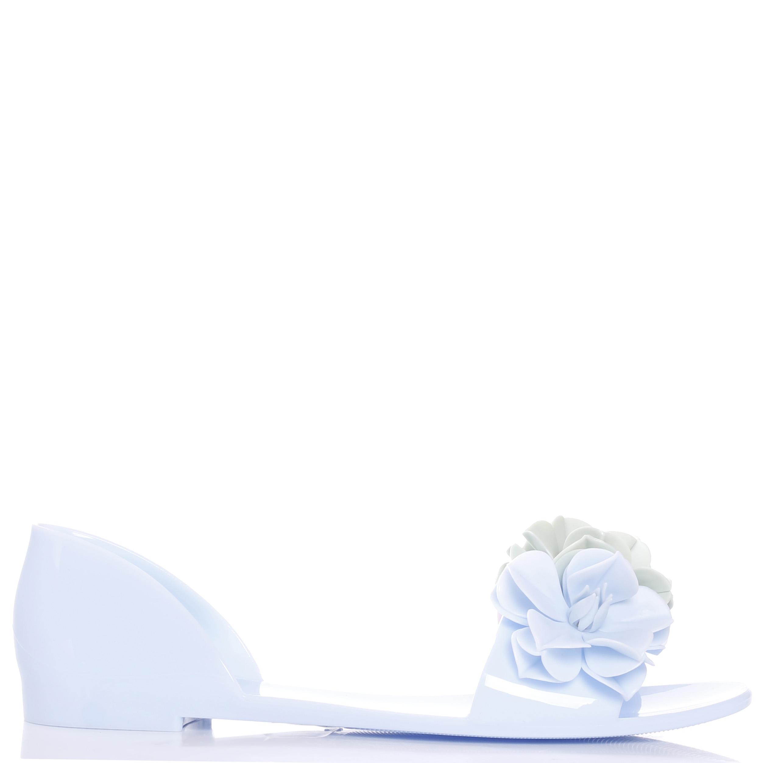Голубые сандалии Menghi с закрытой пяткой
