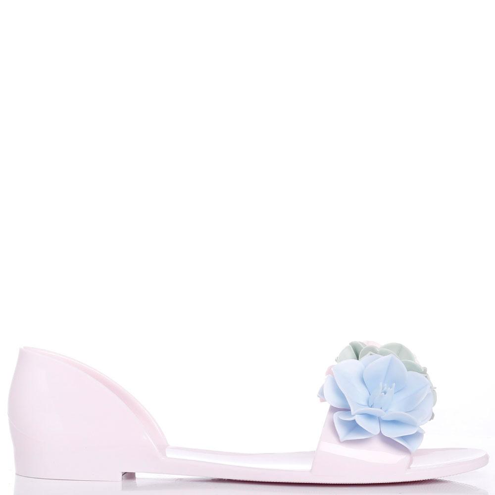 Розовые сандалии Menghi с декором-цветами