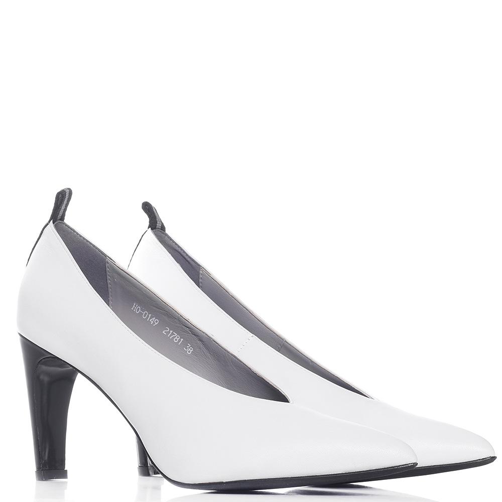 Белые туфли Genuin Vivier на высоком каблуке