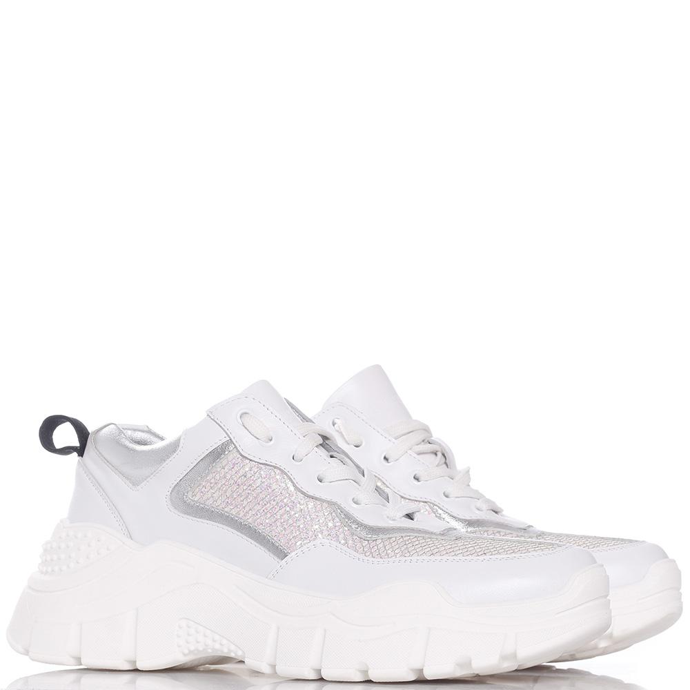 Белые кроссовки Tommaso Marino на толстой подошве