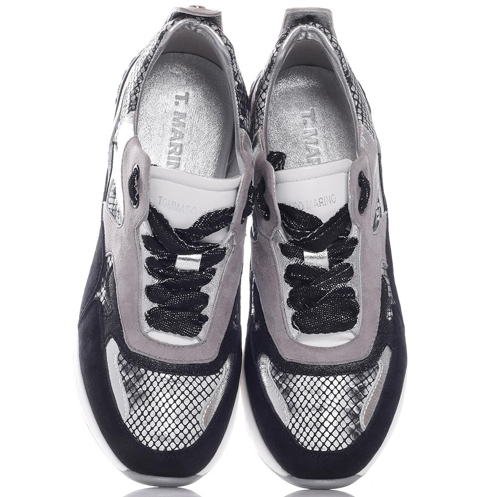 Серые кроссовки Tommaso Marino с принтом