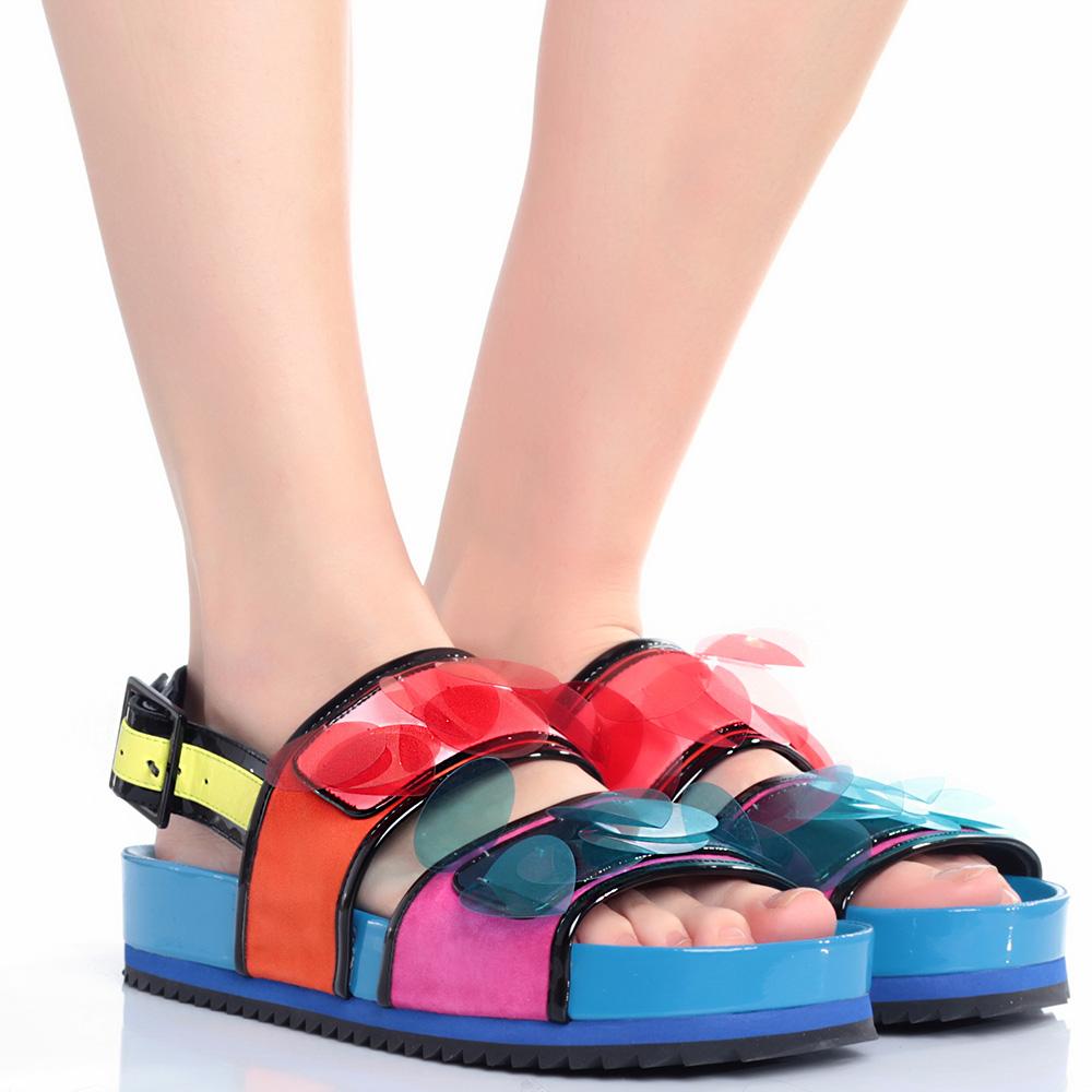 Цветные сандалии Kat Maconie на толстой подошве