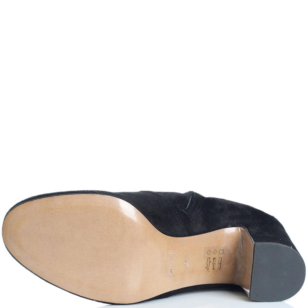 Черные ботфорты Bianca Di на среднем каблуке