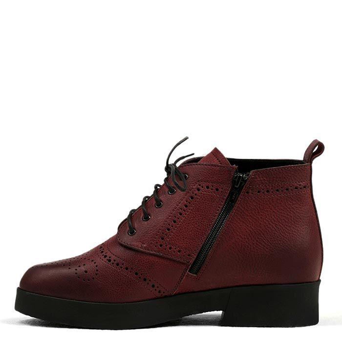 Женские ботинки Modus Vivendi коричневого цвета с низким каблуком