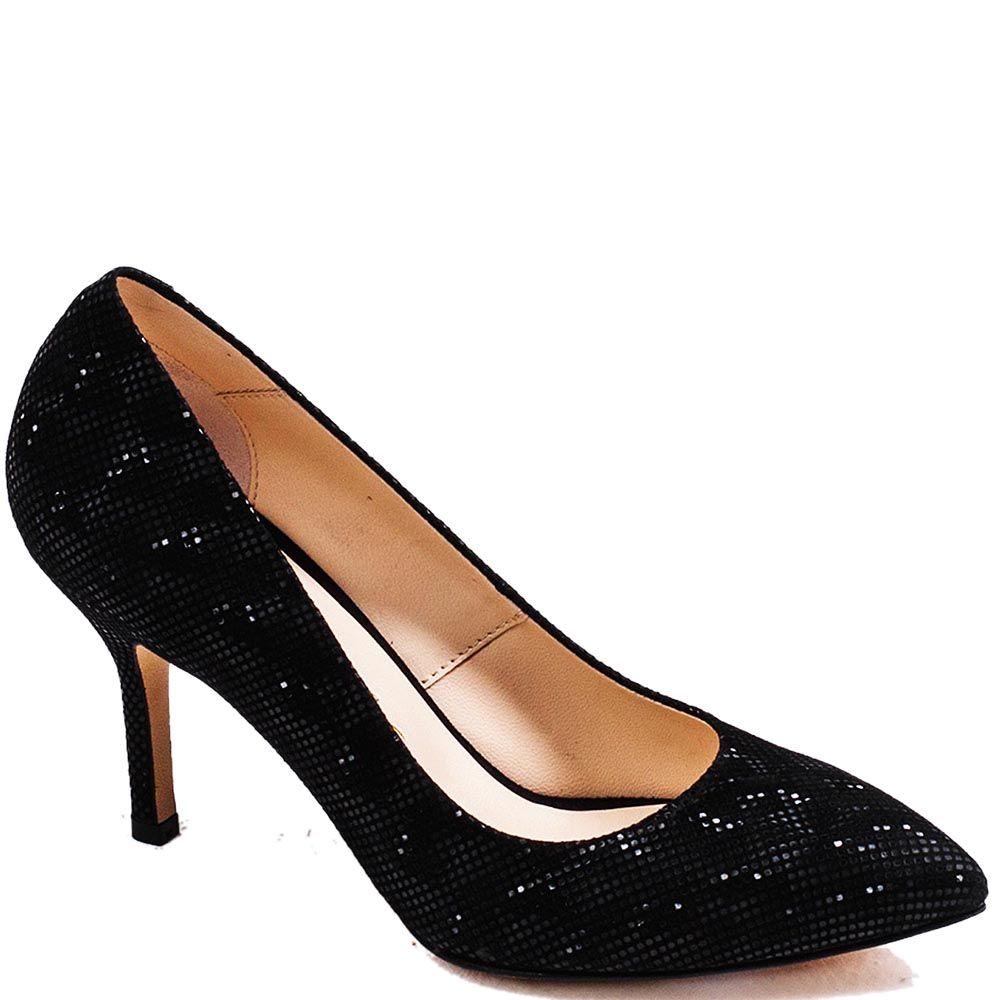 Туфли-лодочки Modus Vivendi из натуральной кожи черного цвета с золотистым рисунком