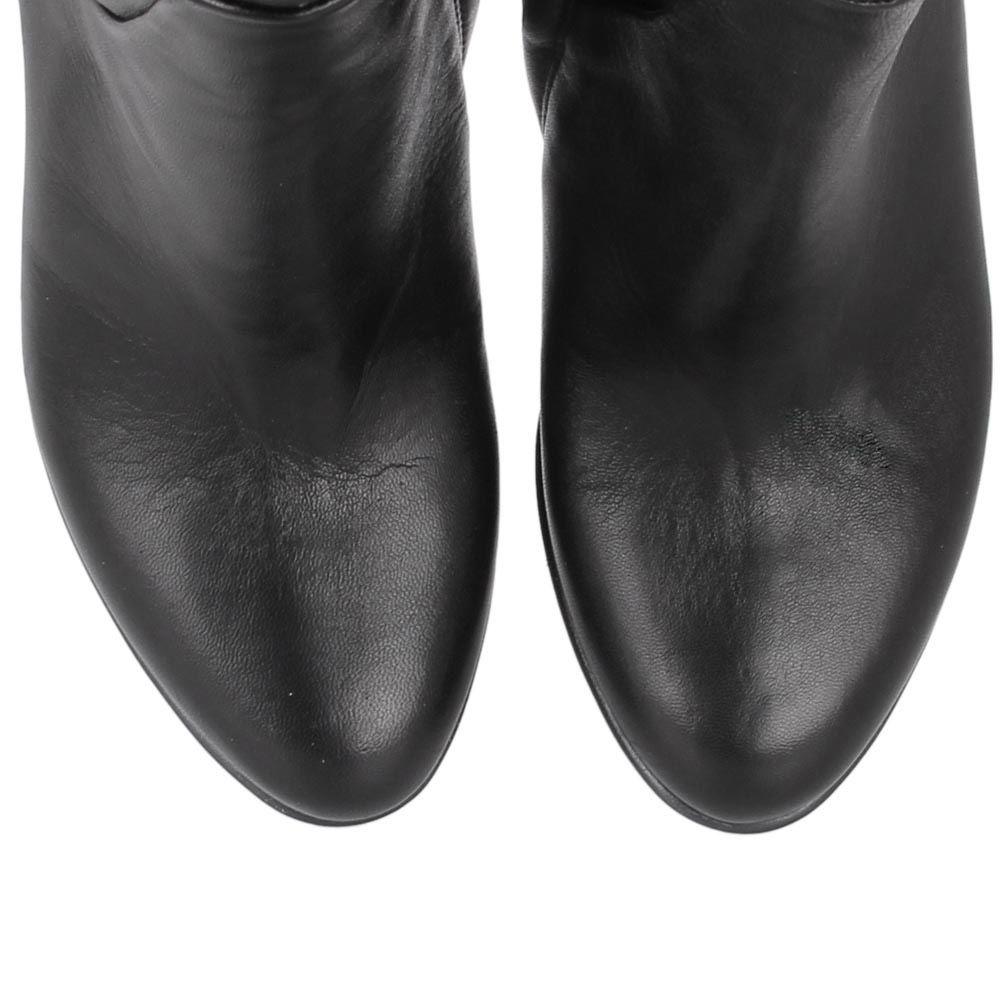 Сапоги Bianca Di черного цвета из гладкой кожи