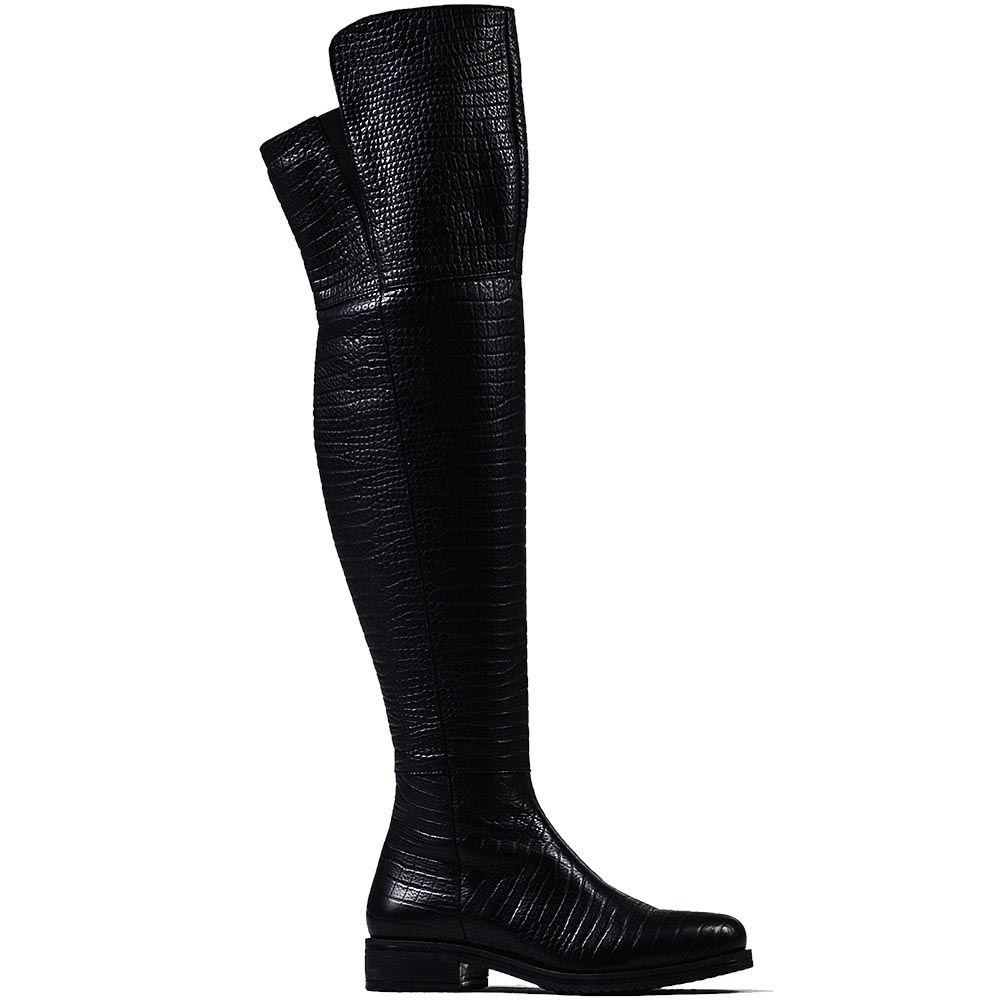 Женские ботфорты Modus Vivendi из кожи черного цвета