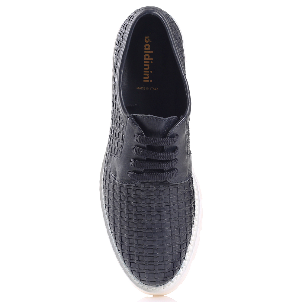 Темно-синие туфли Baldinini на толстой подошве