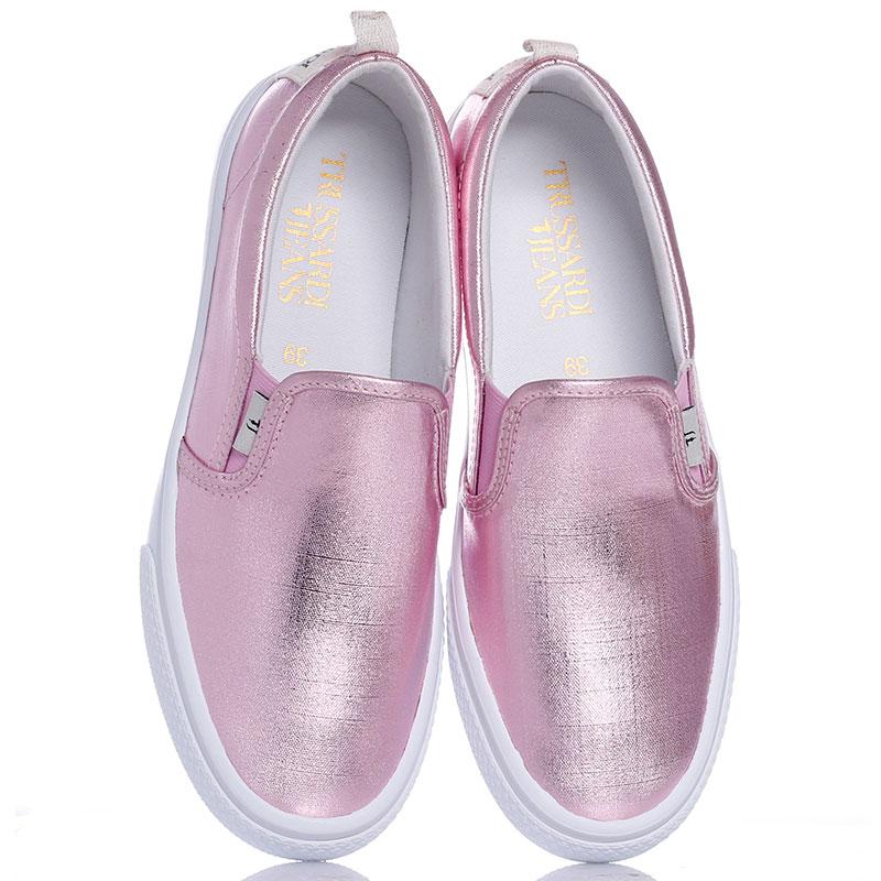 Слипоны Trussardi Jeans розового цвета