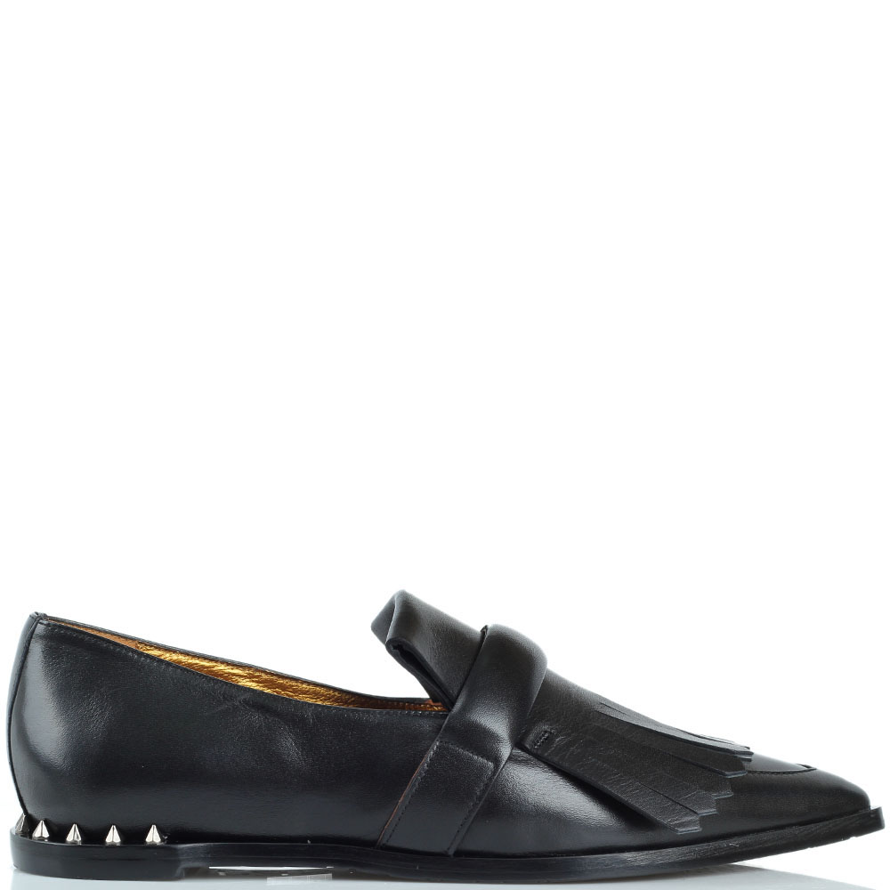 Туфли-лоферы Ras из кожи на низком ходу