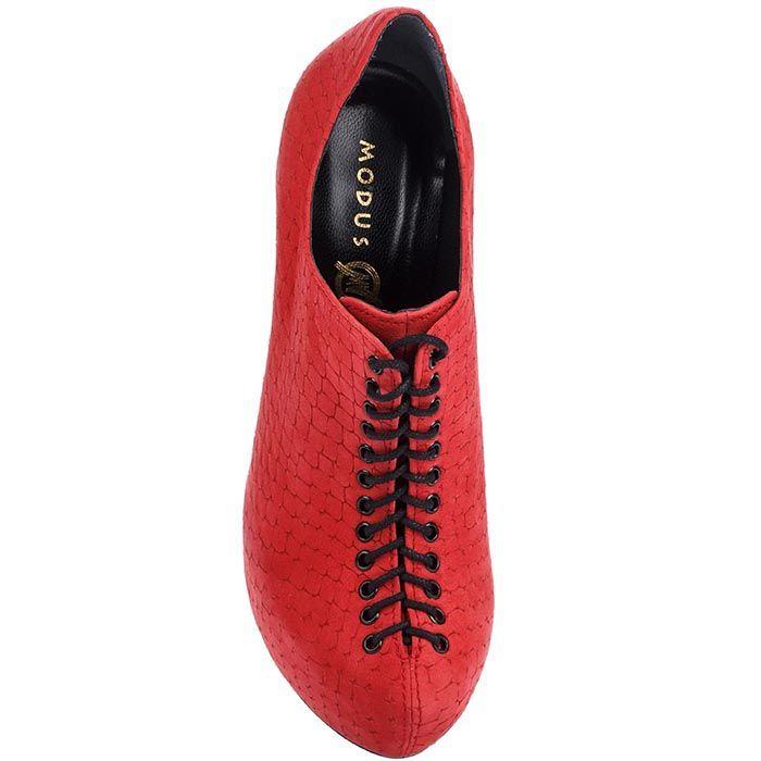 Кожаные закрытые туфли Modus Vivendi с тиснением на шнуровке