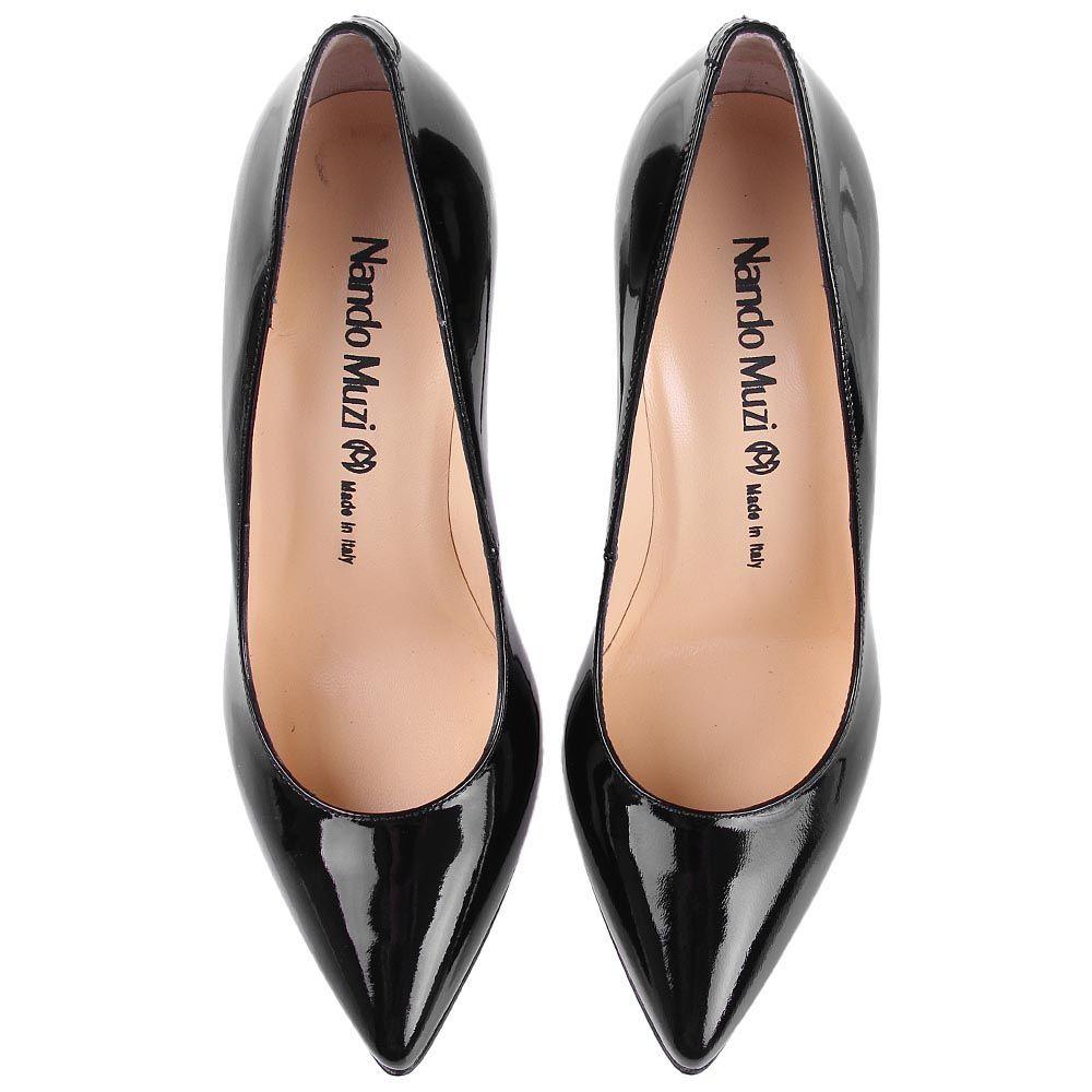 Туфли лодочки Nando Muzi черного цвета лаковые