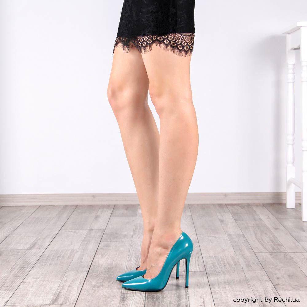Туфли лодочки Nando Muzi голубого цвета лаковые