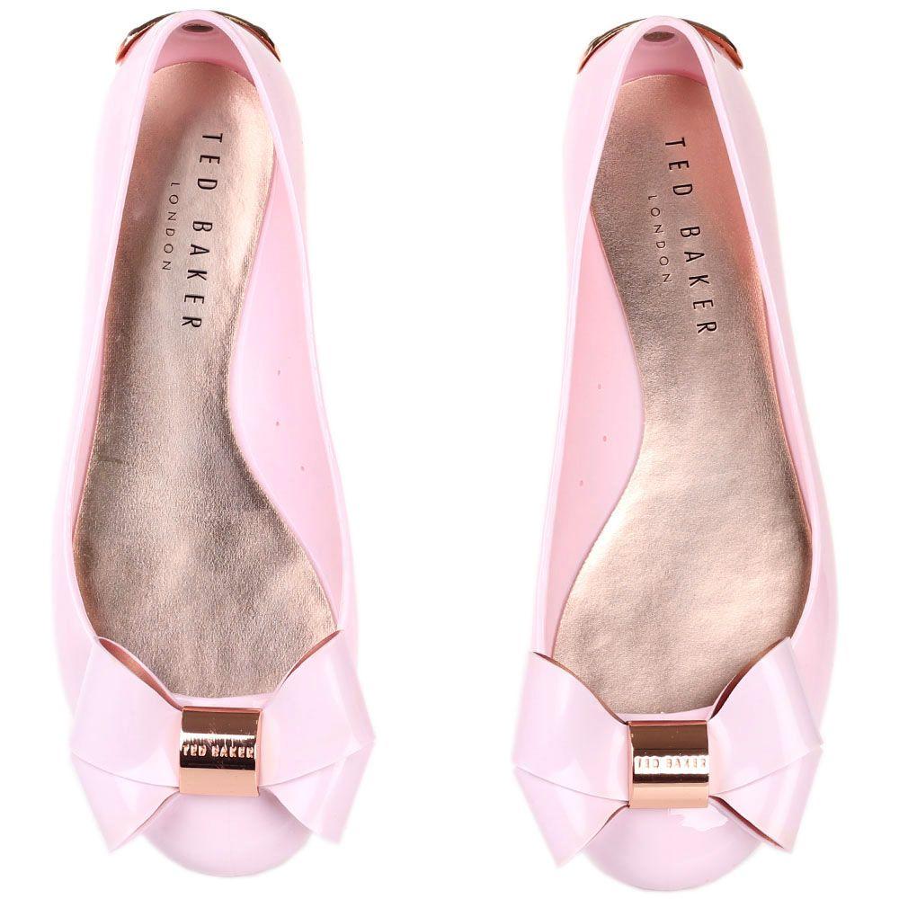 Балетки Ted Baker с бантом розового цвета