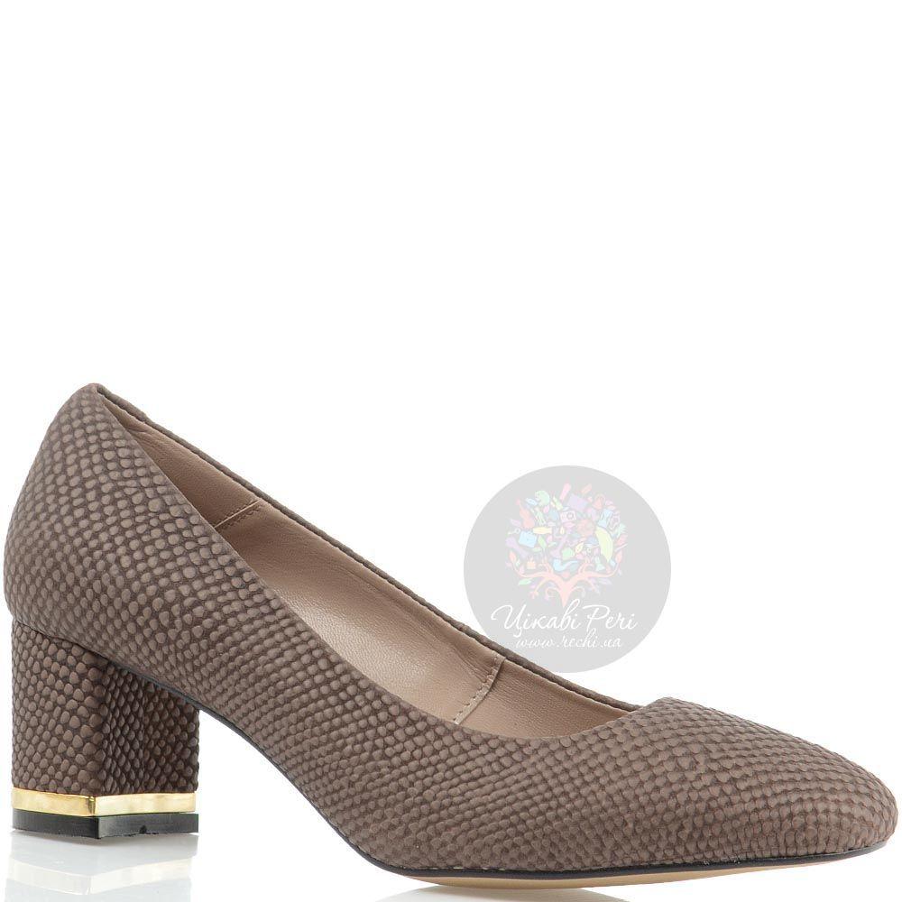 Коричневые кожаные туфли Modus Vivendi на устойчивом каблуке