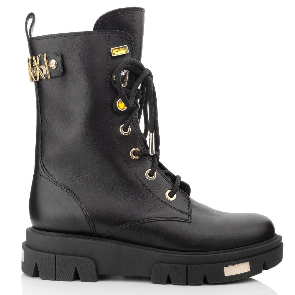 Высокие ботинки Baldinini на шнуровке и молнии