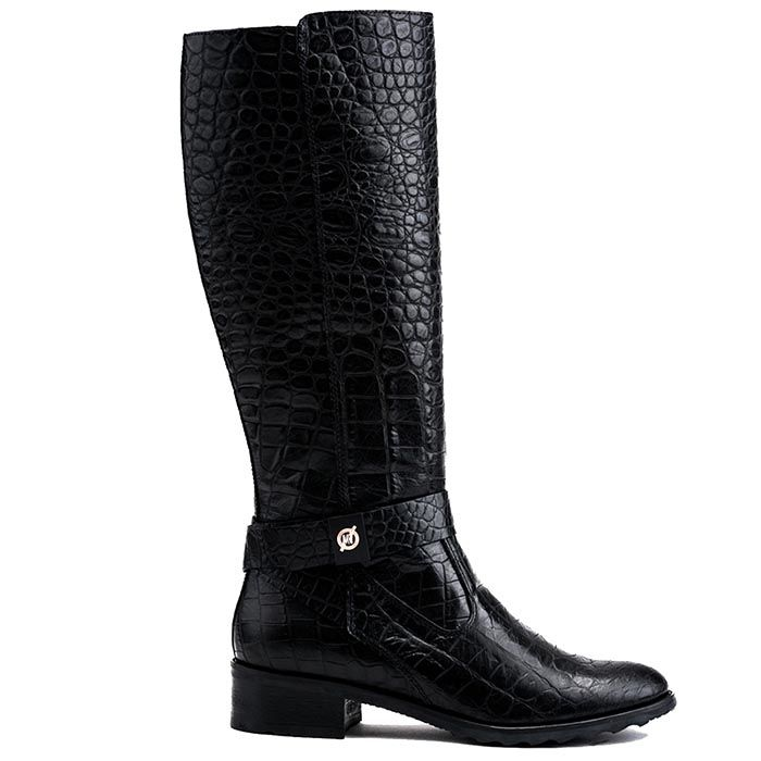 Сапоги женские Modus Vivendi черного цвета из натуральной кожи