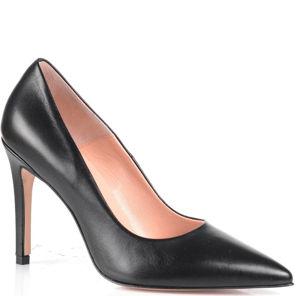 Туфли-лодочки Anna F из гладкой черной кожи