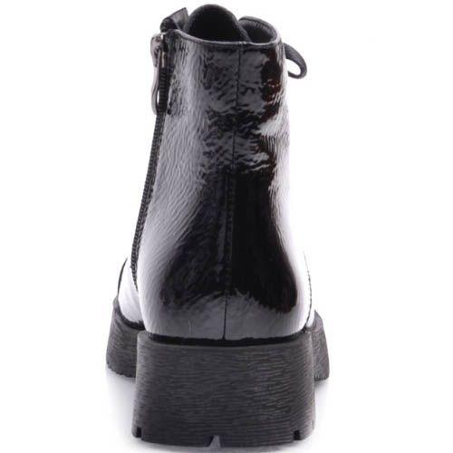 Ботинки Prego из фактурной кожи лаковые с узким носком