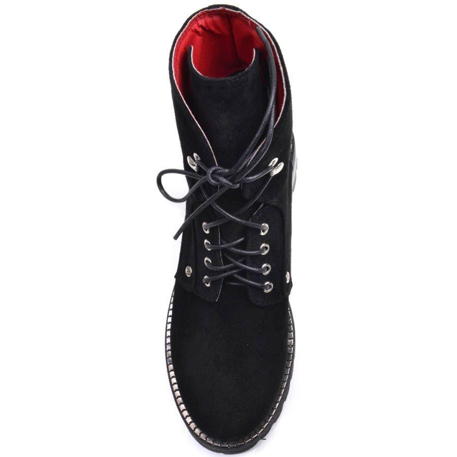 Ботинки Prego черного цвета с металлическим декором вдоль подошвы