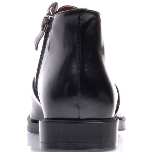 Туфли Prego черного цвета с узким носком и скрытой шнуровкой