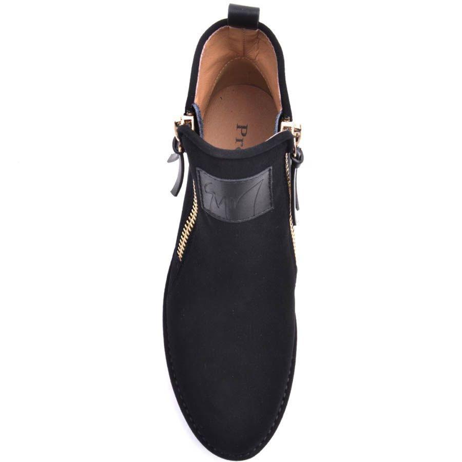 Ботинки Prego замшевые с молниями и кожаной вставкой