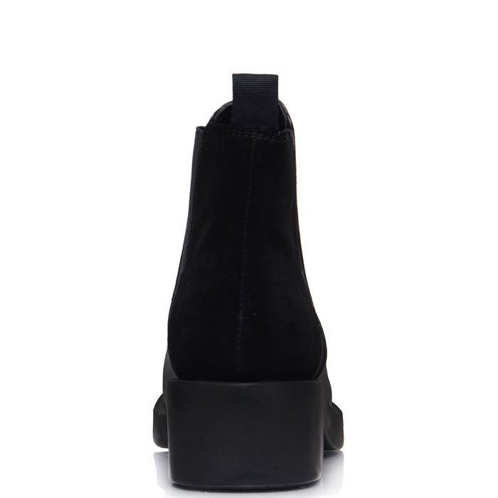 Ботинки Prego из кожи черного цвета на толстой подошве