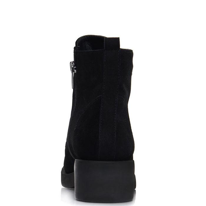 Ботинки Prego из натуральной замши черного цвета с декоративными цепочками