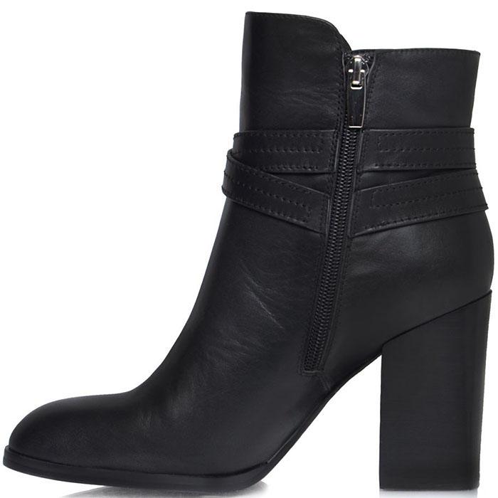 Высокие ботинки Prego из натуральной кожи черного цвета с ремешком