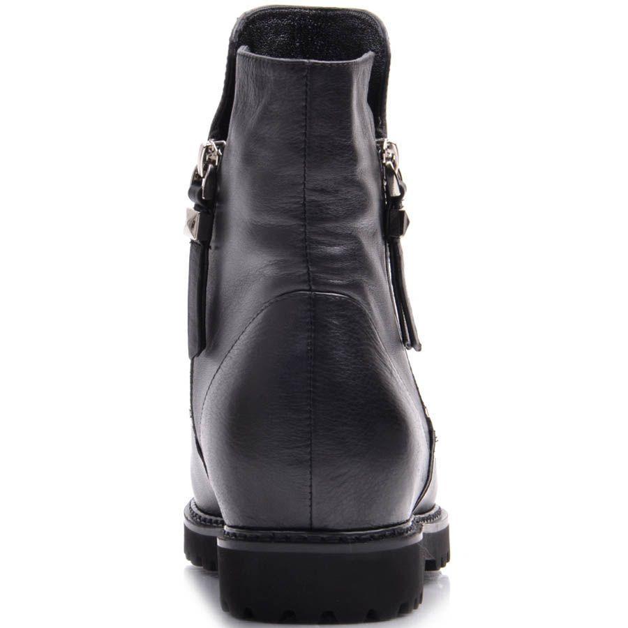 Ботинки Prego зимние из кожи на меху с двумя молниями