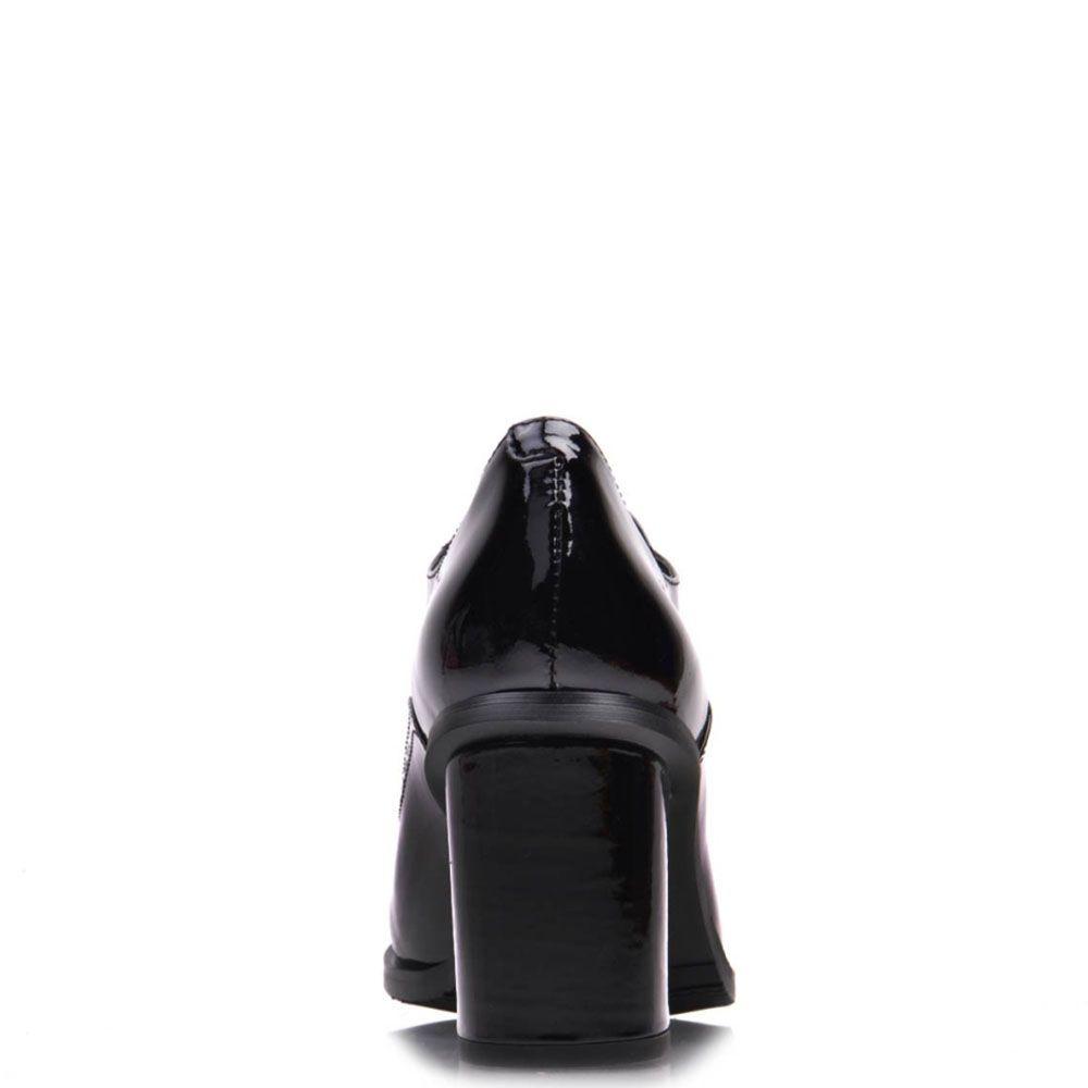 Лаковые туфли Prego из кожи черного цвета на шнуровке