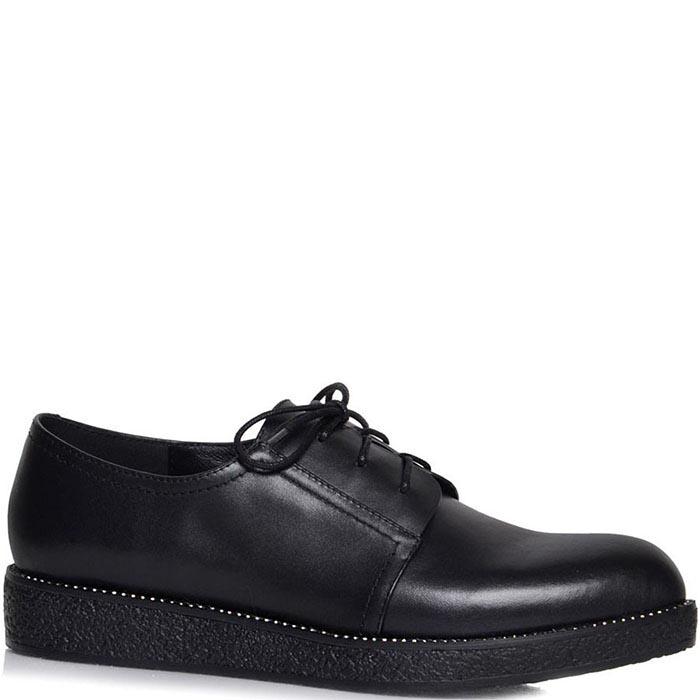 Женские туфли Prego черного цвета на толстой подошве